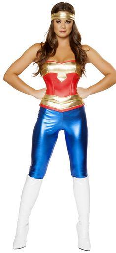 Wonder woman superhero costume-7139