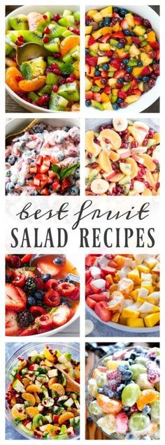 Best Fruit Salad Recipes – A Dash of Sanity - Obst Best Fruit Salad, Fruit Salad Recipes, Fruit Salad Ideas Parties, Ambrosia Fruit Salads, Summer Fruit Salads, Fruit Deserts Recipes, Best Summer Salads, Side Salad Recipes, Fruit Fruit