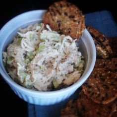 Healthy and super simple chicken salad made with Greek yogurt instead of mayo! Super YUM!!!