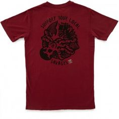 Roark Support Your Local Savages T-Shirt - Burgundy