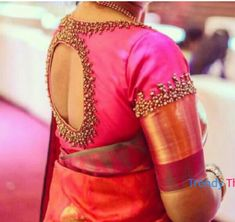 We have come up with 30 new Pattu saree blouse designs that will revamp your look. These Pattu saree blouse designs have a perfect fit and are Pattu Saree Blouse Designs, Wedding Saree Blouse Designs, Silk Saree Blouse Designs, Blouse Neck Designs, Blouse Patterns, Wedding Blouses, Wedding Sarees, Blouse Designs Embroidery, Sleeve Designs