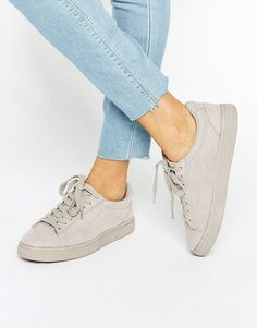 New+Look+Suedette+Trainer