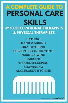 Tips and tricks for helping kids learn to take care of their own personal care skills.  These self care skills are helpful for special needs children and kids who are typically developing, part of the Functional Skills for Kids series from Occupational Th