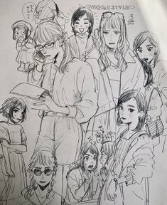 Cute Sketches, Anime Drawings Sketches, Anime Sketch, Ouvrages D'art, Arte Sketchbook, Wow Art, Sketchbook Inspiration, Art Reference Poses, Copics