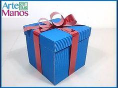 Como Hacer una Caja en Carton Corrugado - Hogar Tv por Juan Gonzalo Angel - YouTube Bff Birthday Gift, Candy Boxes, Origami, Diy And Crafts, Presents, Scrapbook, Lettering, Creative, Tv
