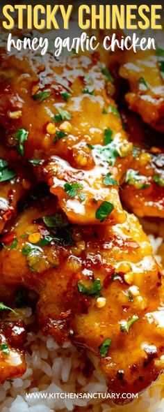 Sticky tender boneless chicken thighs in a garlic, soy and honey sauce. Minimal ingredients, simple to prepare and ready in 20 minutes! #honeygarlicchicken #honeychicken #chinesechicken #chickenthighs #garlicchicken Easy Honey Garlic Chicken, Garlic Chicken Recipes, Crispy Chicken, Asian Recipes, Healthy Recipes, Chinese Recipes, Healthy Dishes, Healthy Meals, Food Dishes