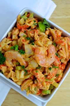 Skinny Crawfish & Shrimp Salad: only 2 Carbs per serving!