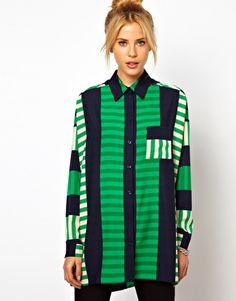 ASOS | ASOS Shirt In Cutabout Stripe Print at ASOS