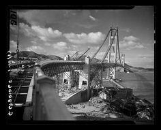 Construction of the Golden Gate Bridge on Jan. 10, 1937. San Francisco Chronicle archives.