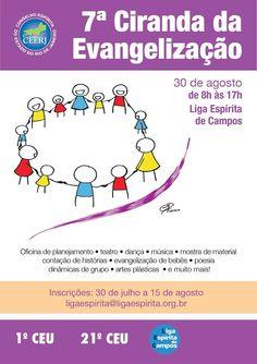 1o.CEU - 21o.CEU - Liga Espírita de Campos Convidam para a 7a.Ciranda da Evangelização - Campos - RJ - http://www.agendaespiritabrasil.com.br/2015/08/03/1o-ceu-21o-ceu-liga-espirita-de-campos-convidam-para-a-7a-ciranda-da-evangelizacao-campos-rj/