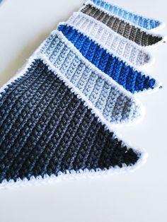 Newborn Crochet, Crochet Baby, Free Crochet, Knit Crochet, Crochet Ideas, Baby Hangers, Crochet Bunting, Crochet Home Decor, Bunting Banner