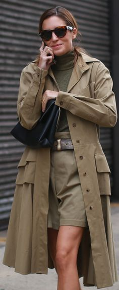 Street Style Chic: Gala Gonzalez – in and out of fashion shows - in Ralph Lauren Collection.