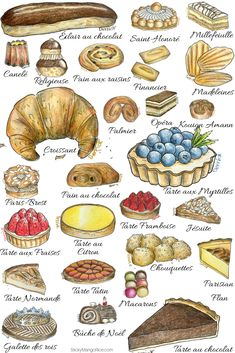 French Cafe Culture - French pastries to indulge in. French Cafe Culture - French pastries to indulge in. Desserts Français, French Desserts, Plated Desserts, French Cake, French Food, Kouign, French Patisserie, Guacamole Recipe, French Pastries