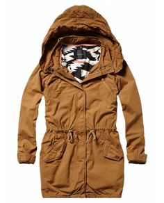 Parka with printed tribal lining - Jackets - Official Scotch & Soda Online Fashion & Apparel Shops