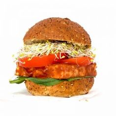 BBQ Tofu Burger | VegAnnie Vegan Keto Recipes, Gluten Free Recipes For Dinner, Vegan Gluten Free, Dinner Recipes, Healthy Recipes, Dinner Ideas, Vegan Meals, Vegan Desserts, Vegan Egg