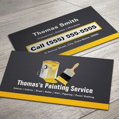 164 best most unique business cards images on pinterest business professional painting service painter paint brush business card you can customize this card with your reheart Image collections