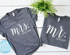 Etsy :: Your place to buy and sell all things handmade 10 Anniversary, Couple Shirts, Happy Shopping, Blue Grey, Heather Grey, Unisex, Sweatshirts, Tees, Model