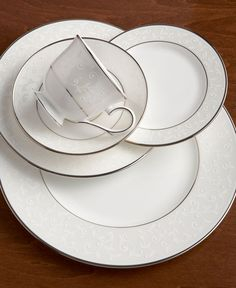 Lenox Dinnerware, Opal Innocence 5 Piece Place Setting - Fine China - Dining & Entertaining - Macy's