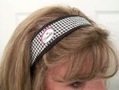 Golf Hair Band w/ a small magnet to hold a golf ball marker