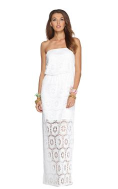 i know i'm not your typical lily pulitzer girl, but this dress is A-MAZE-ing!!!  So adorable!!  if i were younger, i'd say adorbs!  :D  Emmett Strapless Maxi Dress