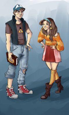 Gravity Falls - older Dipper and Mabel