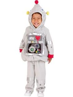 Old Navy Robot Costume.  Oy vey.  L really wants to be a robot this year, and this would be soooo much easier than making it...  Do I dare?