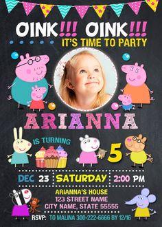 Peppa Pig invitación invitación de cumpleaños Peppa Pig   Etsy