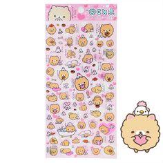 San-X Homekoro Pomeranian Stickers Kawaii Stationery, Rilakkuma, Kawaii Cute, More Cute, Pomeranian, Sanrio, Little Things, Pretty Little, Planner Stickers