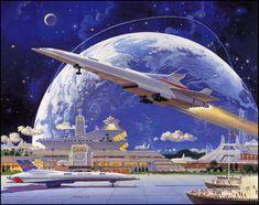 Robert McCall — Rocketplane 2050 — 1996
