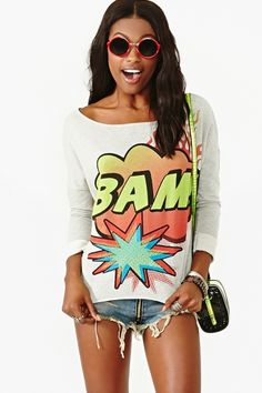 Too cute, for a weekend hang out! Bam Sweatshirt.
