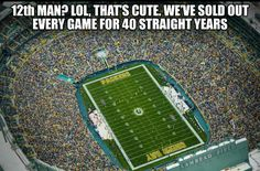 Lambeau Field is an outdoor athletic stadium, located in the City of Green Bay, Wisconsin, United States. It is the home ground of the Green Bay Packers of the . Packers Baby, Go Packers, Packers Football, Greenbay Packers, Packers Memes, Green Bay Packers Players, Green Bay Football, Nfl Memes, Football Memes