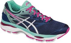 f147ef38175 Hit the ground running in the updated Asics Gel-Cumulus 18 road-running  shoes. Its gel cushioning replicates natural tissue to improve comfort