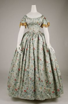 Evening Dress, 1850s, MMA