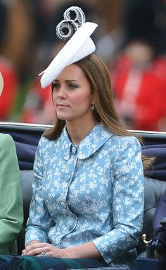 Catherine, Duchess of Cambridge travels in the royal carriage during the Trooping The Colour ceremony on June 13, 2015 in London, England.