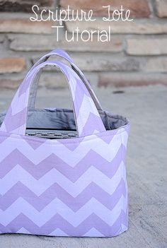 Scripture Tote Tutorial by Crazy Little Projects
