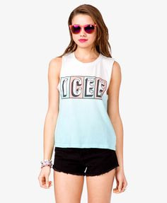 Icee© Muscle Tee! Rachel, expect this for your bday!!! Lol