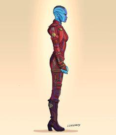 Nebula by Johnny Lighthands Marvel Cartoons, Batman Comics, Marvel Characters, Marvel Movies, Avengers Movies, Marvel Art, Marvel Avengers, Karen Gillian, Nebula Marvel