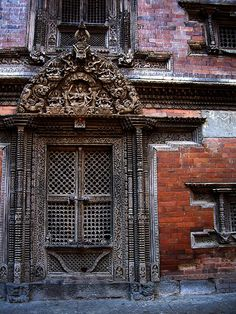 Ancient door, Durbar Square, Kathmandu, Nepal
