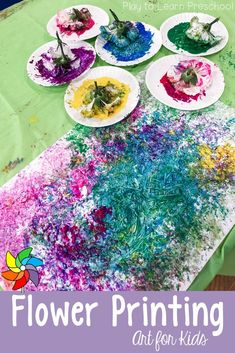 Painting with flowers is a great way to engage preschoolers in process art while giving them a chance to experience some natural elements.