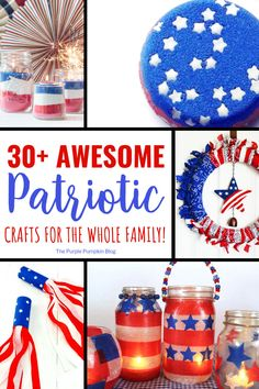 labor day crafts for kids Here are awesome Patriotic Crafts that are perfect to make when you want to inject some red, white and blue into your home! Lots of crafty fun for Patriotic Party, Patriotic Crafts, 4th Of July Party, July 4th, Upcycled Crafts, Easy Diy Crafts, Diy Craft Projects, Diy Crafts For Adults, Paper Crafts For Kids