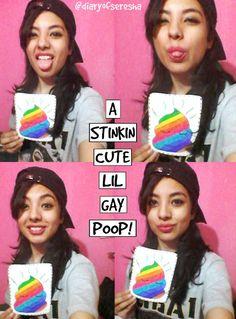 Diary of Seresha: cute gay poop art.