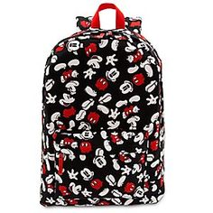 Mickey Mouse Backpack for Adults | Disney Store Take a walk on the FUN side with this comfortable backpack featuring everyone's favorite pal Mickey Mouse. It's got an allover print of Mickey and plenty of room inside for your stuff. Don't worry. Mickey's got your back.