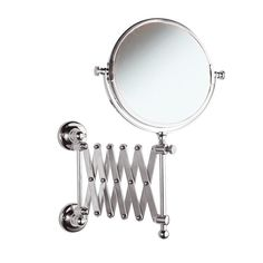 copper wall mounted bathroom mirror/Two-sided magnifying mirror/ folding telescopic mirror
