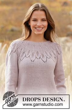Listen to Nature / DROPS - Free knitting patterns by DROPS Design Informations About Listen to Ladies Cardigan Knitting Patterns, Knit Vest Pattern, Knitting Patterns Free, Knit Patterns, Free Knitting, Drops Design, Drops Patterns, Vintage Knitting, Cardigans For Women