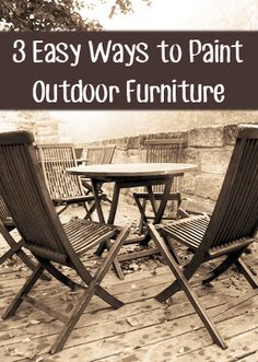 3 Easy Ways to Paint Outdoor Furniture - Painted Furniture Ideas pIf you dont have much time, but wa Furniture Repair, Furniture Makeover, Diy Furniture, Furniture Design, Furniture Refinishing, Painted Outdoor Furniture, Antique Furniture, Outdoor Spray Paint, Do It Yourself Inspiration