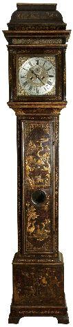 Rare George II Chinoiserie Longcase Clock made by Kipling London