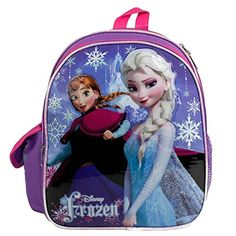 Disney Princess Frozen Elsa Anna 12 backpack NEW Licensed Product >>> Details can be found by clicking on the image. (This is an affiliate link and I receive a commission for the sales)