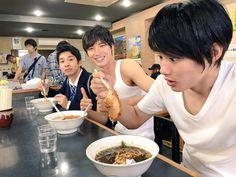 "from left: Taiga, Sota, Shuhei [Preview, Ep.2] https://www.youtube.com/watch?v=4KEsgxRCE0c Tsubasa Honda, Shuhei Nomura, Sota Fukushi, Taiga, Sakurako Ohara. J drama series ""Koinaka (Love Relationship (working & literal title)), starts on 07/20/'15"