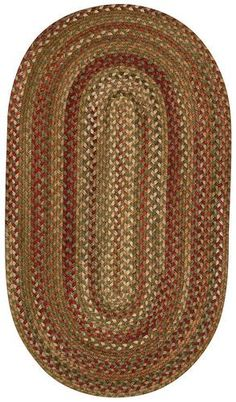 RugStudio presents Capel Manchester 43833 Sage Red Hues Braided Area Rug