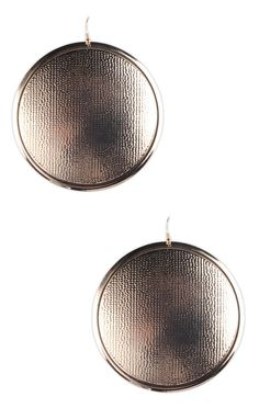 large hammered disc earring  $5.00